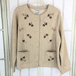 Breckenridge Cardigan Sweater Embroidered Trim